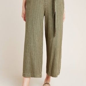 Anthropologie Overdyed Cropped Wide Leg Pants LP